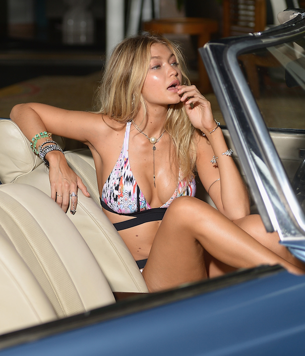 Gigi Hadid shoots for Seafolly in Miamii