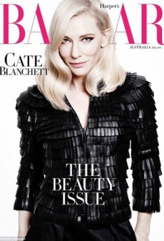 Cate Blanchett Rocks Platinum Blonde Hair on Harper's Bazaar Australia (Forum Buzz)