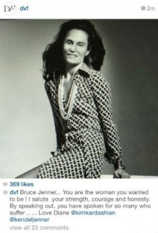 Link Buzz: DVF Is Not Sorry for Photoshopping Bruce Jenner in a Dress, Jennifer Saunders Talks 'Ab Fab' Movie Details