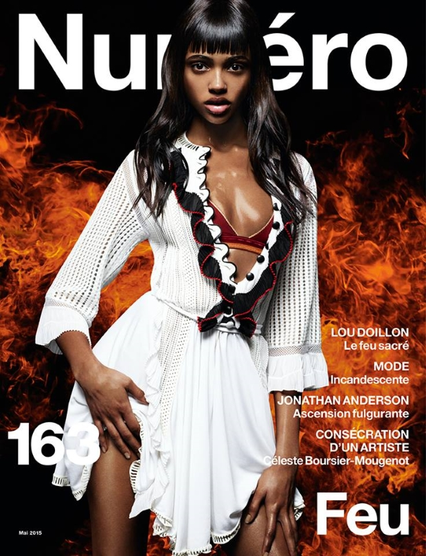Numéro May 2015 Aya Jones Daniel Sannwald