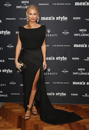 Anna Heinrich arrives at the Men of Influence Dinner