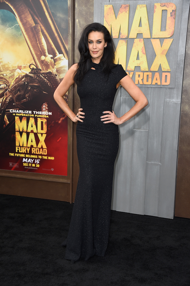 Megan Gale attends the premiere of Warner Bros. Pictures'