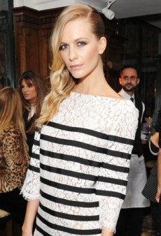 Poppy Delevingne Dines in a Lacy Michael Kors Look