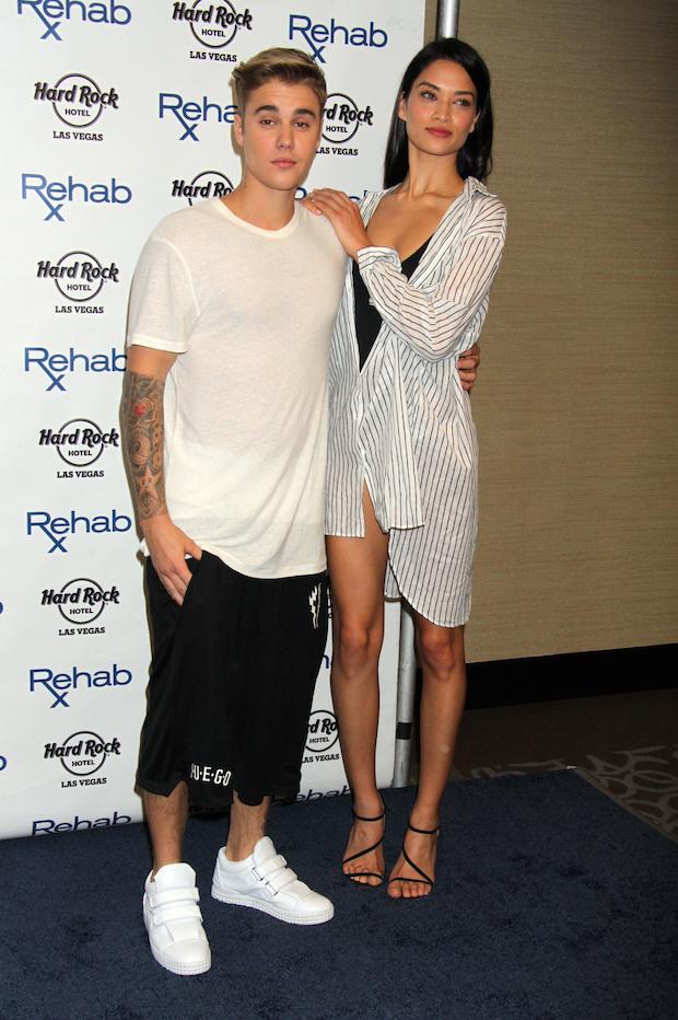 Justin Bieber and Shanina Shaik in Las Vegas