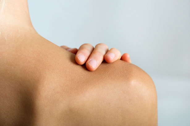 woman's back without bacne