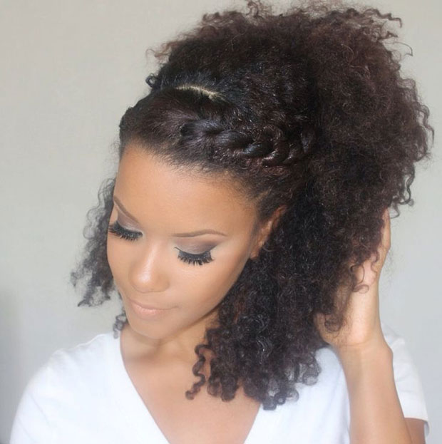 Brilliant Easy Braids For Curly Hair The Fashion Spot Hairstyles For Women Draintrainus