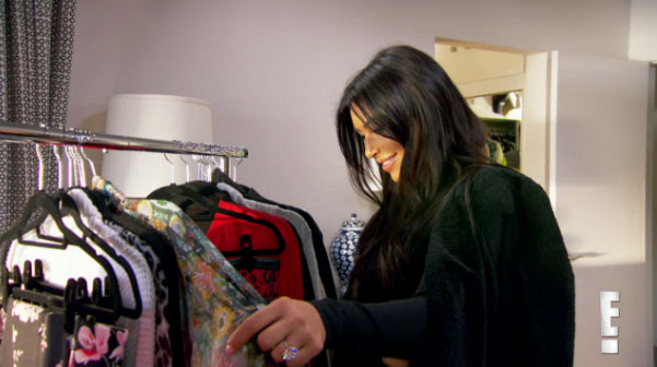 kim kardashian goes through bruce jenner's clothes