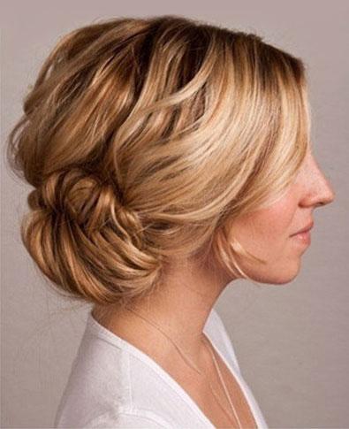 side-bun-fishtail-braid