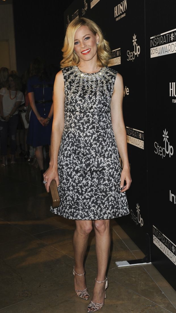 Elizabeth Banks dazzles in a patterned dress at the 2015 Inspiration Awards