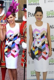 Style Showdown: A Royal, an Opera Singer and an Actress Get Prismatic in Preen and More Matching Celebs