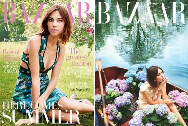 UK Harper's Bazaar July 2015 Alexa Chung by David Slijper
