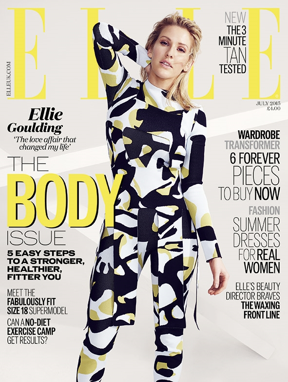UK Elle July 2015 Ellie Goulding by Aitken Jolly