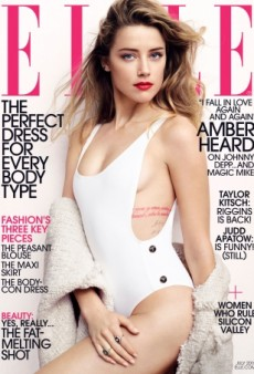 Amber Heard Turns up the Heat on ELLE's July 2015 Cover (Forum Buzz)