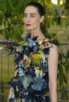 Erin O'Connor Ruffles Feathers in Erdem