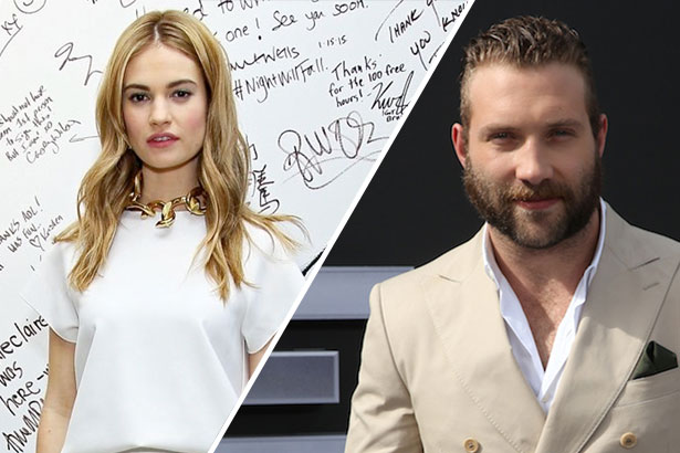 Lily James and Jai Courtney
