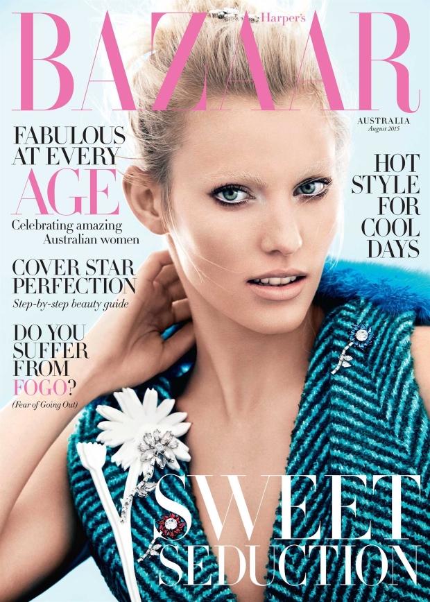 Harper's Bazaar August 2015 Emily Baker by Steven Chee