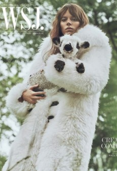 Freja Beha Erichsen Cradles a Cute Baby Lamb on WSJ's Cover — While Wearing a Fur Coat (Forum Buzz)