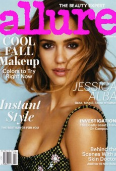 Allure's Layout Ruins a Perfectly Good Jessica Alba Cover (Forum Buzz)