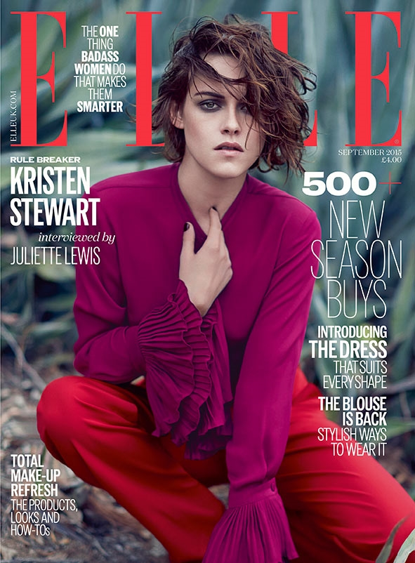UK ELLE September 2015 Kristen Stewart by Kai Z Feng