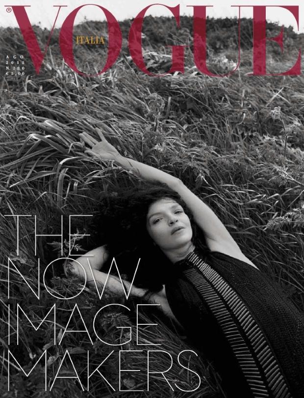 Vogue Italia August 2015 Mariacarla Boscono by Vincent van de Wijng