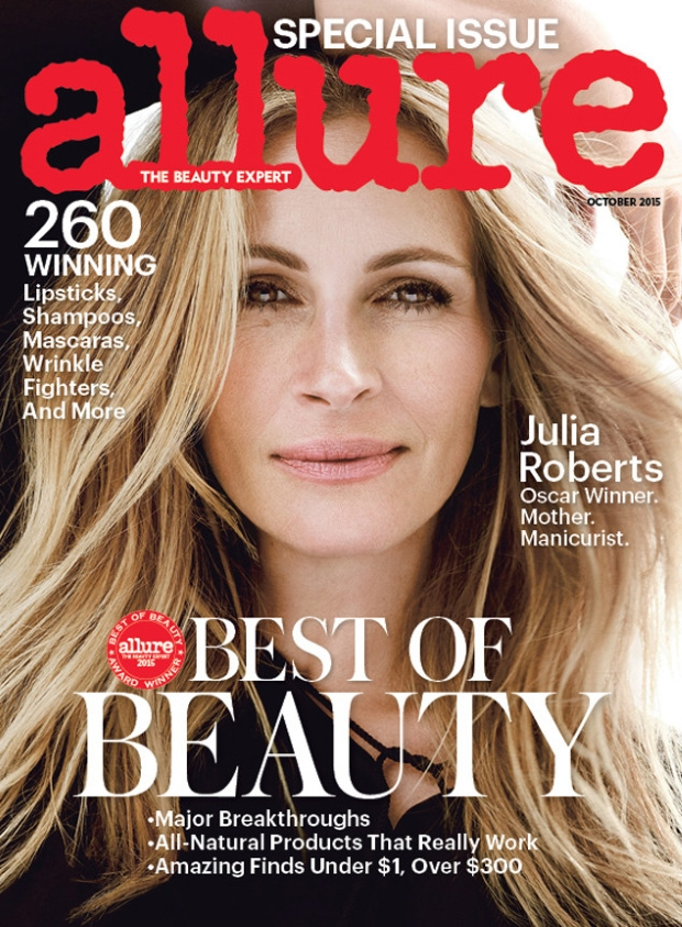 Allure October 2015 Julia Roberts by Tom Munro