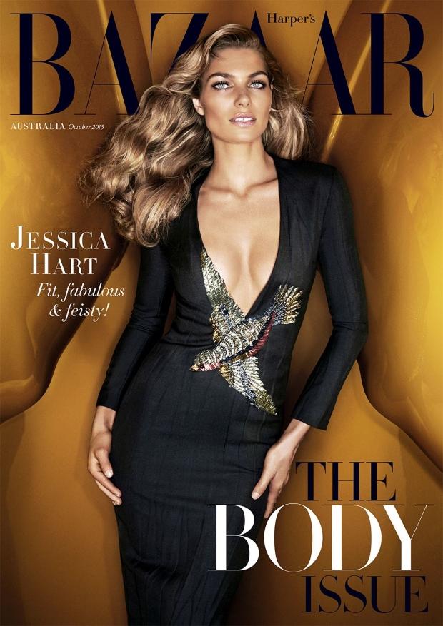 Harper's Bazaar Australia October 2015 Jessica Hart by Steven Chee