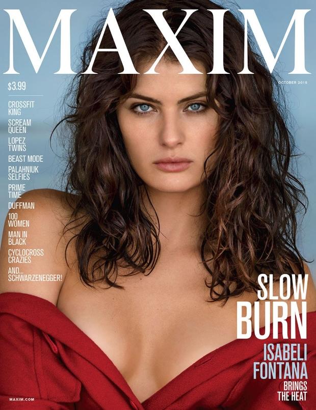Maxim October 2015 Isabeli Fontana Gilles Bensimon