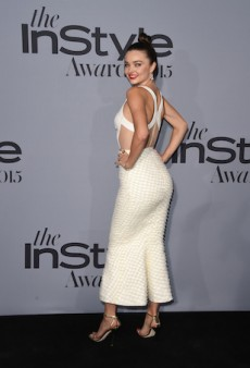 Miranda Kerr Puts Her Back Into It for the 2015 InStyle Awards
