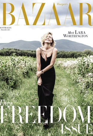 Harper's Bazaar Australia November 2015 : Lara Worthington by Russell James