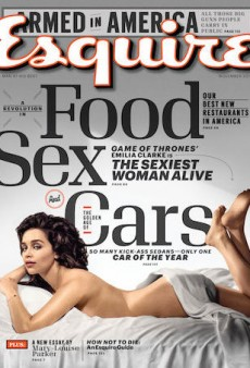 Emilia Clarke Goes Topless as Sexiest Woman Alive for Esquire's November Issue