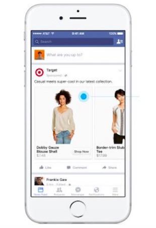 Facebook shop feature