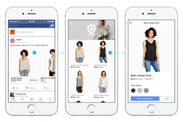 Facebook shop feature