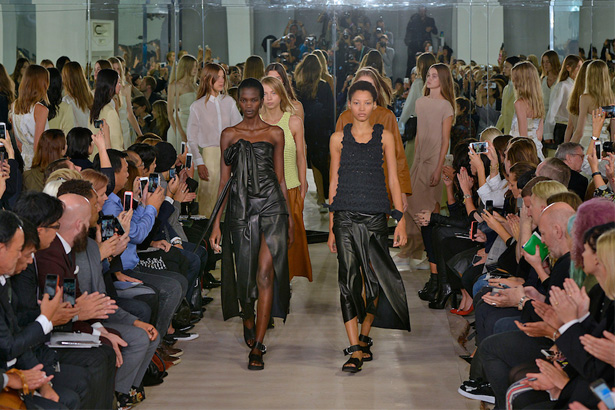 Lineisy Montero (right) Leading the Finale at Joseph Spring 2016