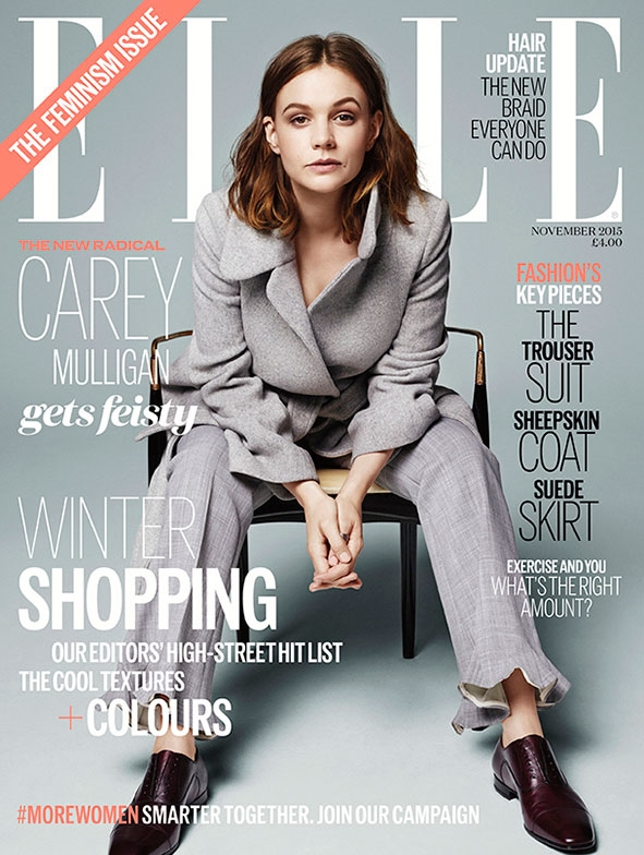 UK ELLE November 2015 Carey Mulligan by Kerry Hallihan
