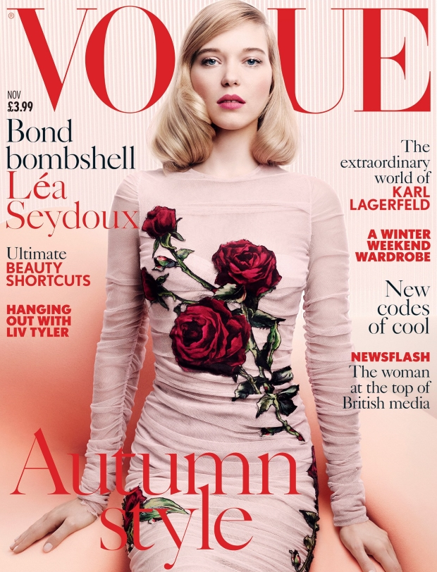 UK Vogue November 2015 Léa Seydoux by Craig McDean