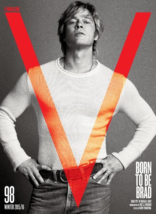 V Magazine #98 Winter 2015/16 : Brad Pitt by Inez & Vinoodh