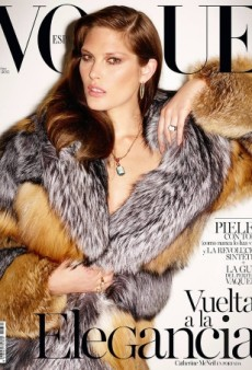 Catherine McNeil Wows in Fur on Vogue Spain's November Cover (Forum Buzz)
