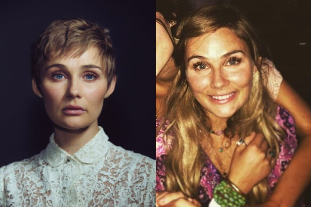 Clare Bowen cuts hair