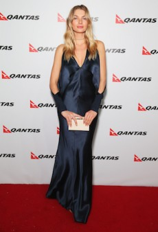 Qantas Trend Consultant Jessica Hart Rings In Airline's 95th Anniversary Celebrations