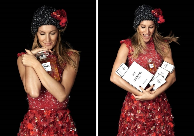 Chanel No. 5 Christmas 2015 Campaign : Gisele Bündchen by Patrick Demarchelier
