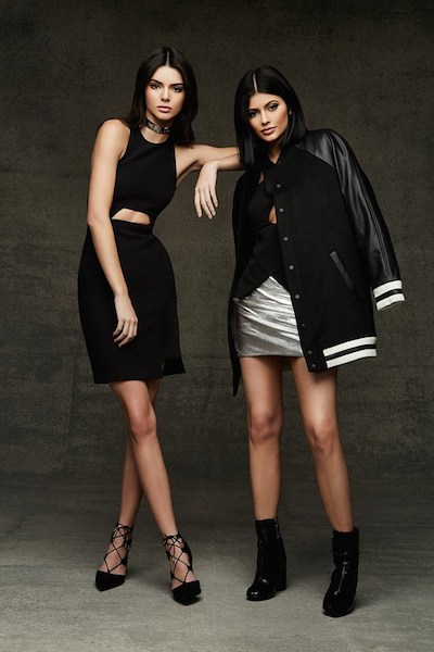 Kendall and Kylie wear clothes from their Topshop Holiday collection