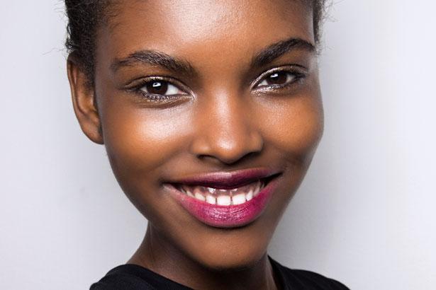 bright lipstick at MSGM Fall 2015