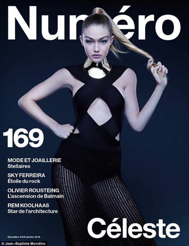 Numéro #169 December 2015/January 2016 : Gigi Hadid by Jean-Baptiste Mondino