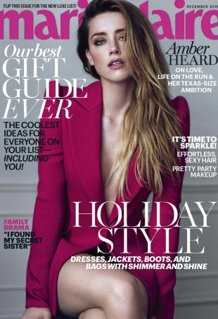 US Marie Claire December 2015 : Amber Heard by Boe Marion