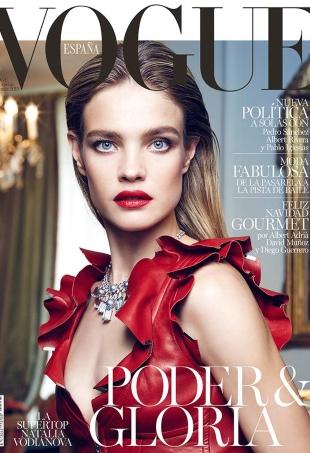 Vogue España December 2015 : Natalia Vodianova by Nico Bustos