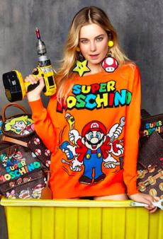 Bridget Malcolm Fronts Moschino's Nostalgic Nintendo Collection