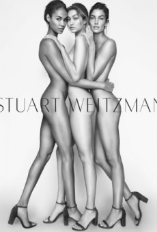 Gigi Hadid, Lily Aldridge and Joan Smalls Wear ONLY Heels in Racy New Stuart Weitzman Campaign (Forum Buzz)