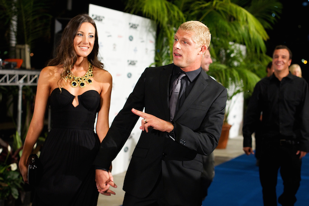 Mick Fanning and wife