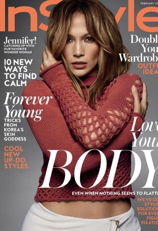US InStyle February 2016 Jennifer Lopez by Greg Kadel