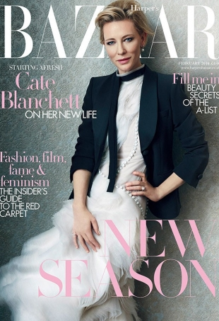 UK Harper's Bazaar February 2016 : Cate Blanchett by Norman Jean Roy